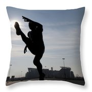 Punting The Sun - Philadelphia Throw Pillow by Bill Cannon