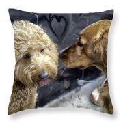Puppy Love Throw Pillow by Madeline Ellis