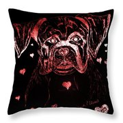 Puppy Love Throw Pillow by Maria Urso