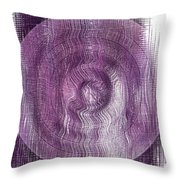 Purple Concentric Circles Throw Pillow by Bonnie Bruno