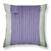 Purple Door Number 46 Throw Pillow by Nomad Art And  Design