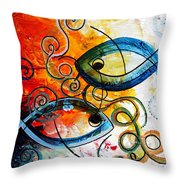 Purposeful Ichthus By Two Throw Pillow by J Vincent Scarpace