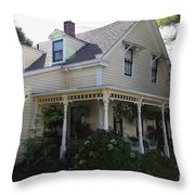 Quaint House Architecture - Benicia California - 5d18793 Throw Pillow by Wingsdomain Art and Photography