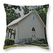 Quaker Church Pencil Throw Pillow by Scott Hervieux