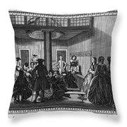 Quaker Meeting, C1790 Throw Pillow by Granger