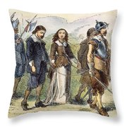 Quakers: Mary Dyer, 1659 Throw Pillow by Granger