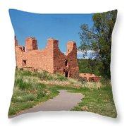 Quarai - National Historic Landmark Throw Pillow by Christine Till