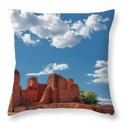 Quarai Ruins At Salinas Pueblo Missions National Monument Throw Pillow by Christine Till