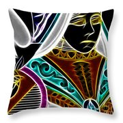 Queen Of Spades - V4 Throw Pillow by Wingsdomain Art and Photography