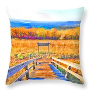 Queen Wilhelmina State Park Throw Pillow by Douglas Barnard