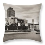 Queen's greetings Throw Pillow by Jasna Buncic