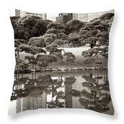 Quiet Moment In Tokyo Throw Pillow by Carol Groenen