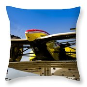 Racing Car Nose Throw Pillow by Darcy Michaelchuk