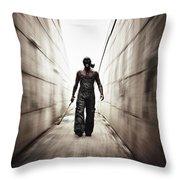 Rage Throw Pillow by Stelios Kleanthous