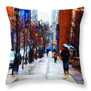 Rainy Day Feeling Throw Pillow by Bill Cannon