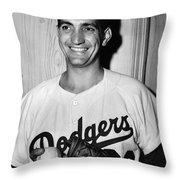 Ralph Branca (1926- ) Throw Pillow by Granger