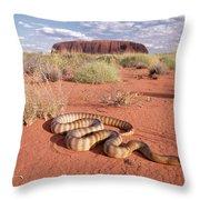 Ramsays Python Aspidites Ramsayi Throw Pillow by Michael & Patricia Fogden