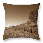 Ranch Road Oak Throw Pillow by Kathy Yates