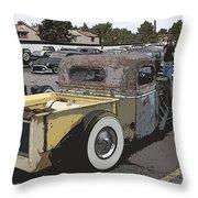 Rat Truck Throw Pillow by Steve McKinzie