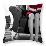 Reading Throw Pillow by Joana Kruse