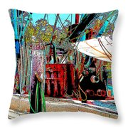 Ready for the Trip II Throw Pillow by Barry Jones