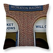Rec Hall Throw Pillow by Tom Gari Gallery-Three-Photography