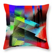 Red Abstract 1 Throw Pillow by Anil Nene