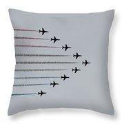 Red Arrows Horizontal Throw Pillow by Jasna Buncic