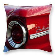 Red Falcon Throw Pillow by David Lee Thompson