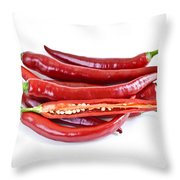 Red Hot Chili Peppers Throw Pillow by Elena Elisseeva