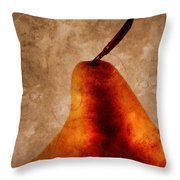 Red Pear I Throw Pillow by Carol Leigh