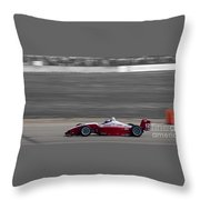 Red Racer Throw Pillow by Darcy Michaelchuk