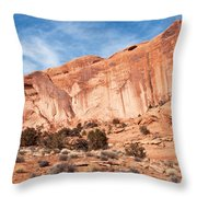 Red Rock And Blue Skies 2 Throw Pillow by Bob and Nancy Kendrick