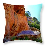 Red Rock Canyon 46 Throw Pillow by Randall Weidner