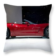 Red Vette Throw Pillow by Alan Look