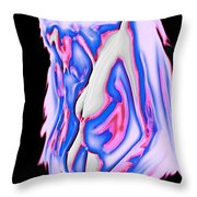 Red white and blue Throw Pillow by Tbone Oliver