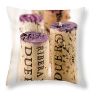 Red Wine Corks From Ribera Del Duero Throw Pillow by Frank Tschakert