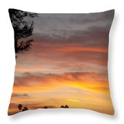 Reflections At The Close Of Day Throw Pillow by Glenn McCarthy Art and Photography