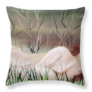 Reflections Throw Pillow by Mark Moore