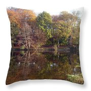 Reflections Of Autumn Throw Pillow by Rod Johnson