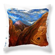 Reiki Healing Art Of The Sedona Vortexes Throw Pillow by The Art With A Heart By Charlotte Phillips
