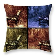 Relaxing Time Throw Pillow by Susanne Van Hulst