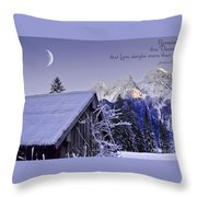 Remember This December Throw Pillow by Sabine Jacobs