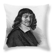 Rene Descartes, French Polymath Throw Pillow by Science Source
