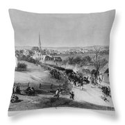 Retreat Of British From Concord Throw Pillow by Photo Researchers