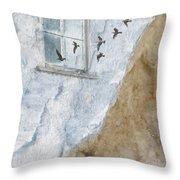 Return Flight Throw Pillow by Carol Leigh