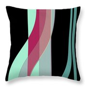 Ribbons Throw Pillow by Bonnie Bruno