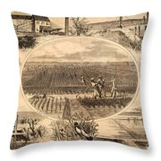 Rice Plantation, 1866 Throw Pillow by Granger