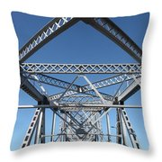 Richmond-san Rafael Bridge In California - 5d19549 Throw Pillow by Wingsdomain Art and Photography