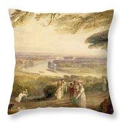 Richmond Terrace Throw Pillow by Joseph Mallord William Turner